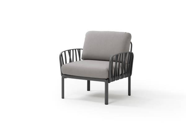 Bilde av Nardi Komodo stol m/puter - antrasittgrå/elementgrå