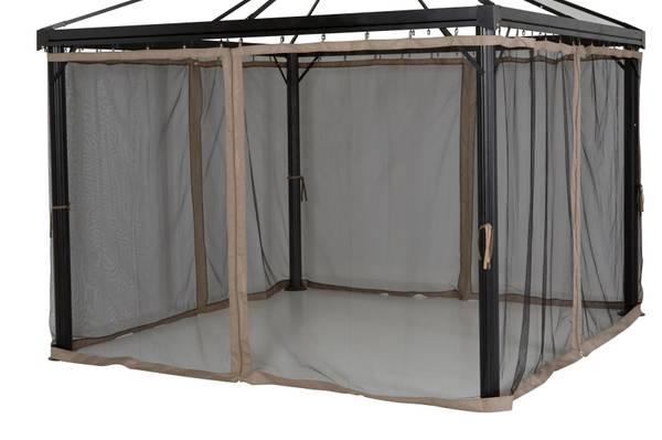 Bilde av Oxford myggnett sett til 3x4 m paviljong - khaki