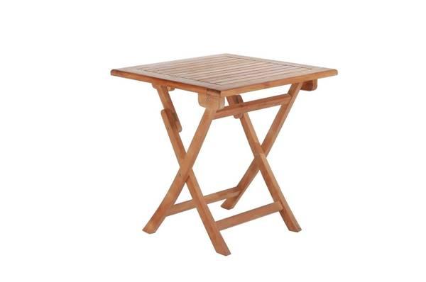 Bilde av Skagen sammenleggbart spisebord 70x70 cm - teak
